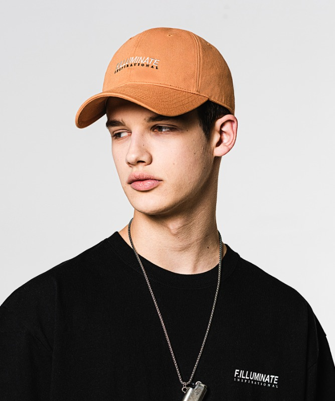 Unisex Truth Logo Ball Cap-Orange-F.ILLUMINATE
