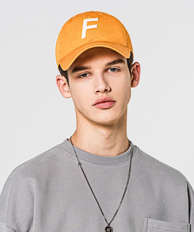 Unisex F Logo Ball Cap-Yellow-F.ILLUMINATE
