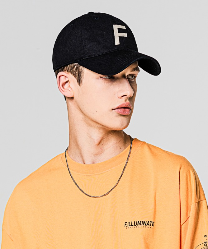 Unisex F Logo Ball Cap-Black-F.ILLUMINATE