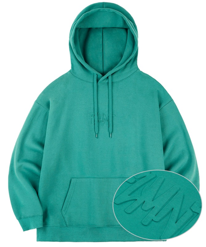 Unisex Overfit Press Logo Hoodie-Green-F.ILLUMINATE